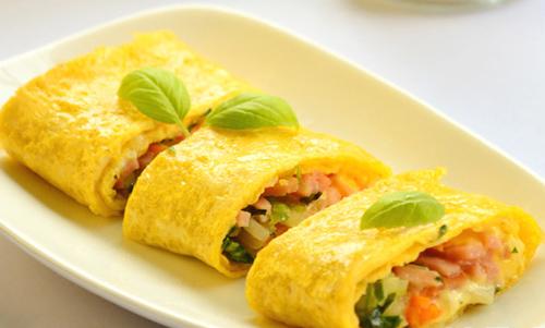 Đổi vị bữa sáng với trứng cuộn phô mai